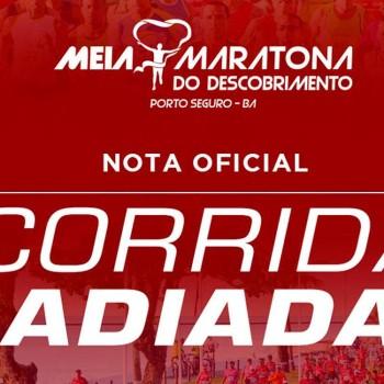 Nota oficial: Corrida Meia Maratona do Descobrimento é adiada