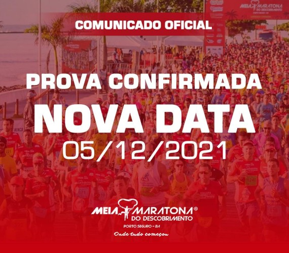 Meia Maratona do Descobrimento está confirmada para 05 de dezembro de 2021